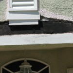 Stucco repair I did last week in Cocoa,FL on an exterior repaint