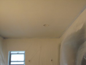 Water damaged orange peel ceiling repair- After Photo-Melbourne, FL- Peck Drywall and Painting