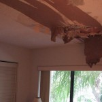 Cape Canaveral, FL | Water Damaged Popcorn Ceiling From Tropical Storm Debby