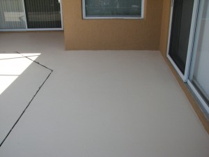 Pooldeck Painting After