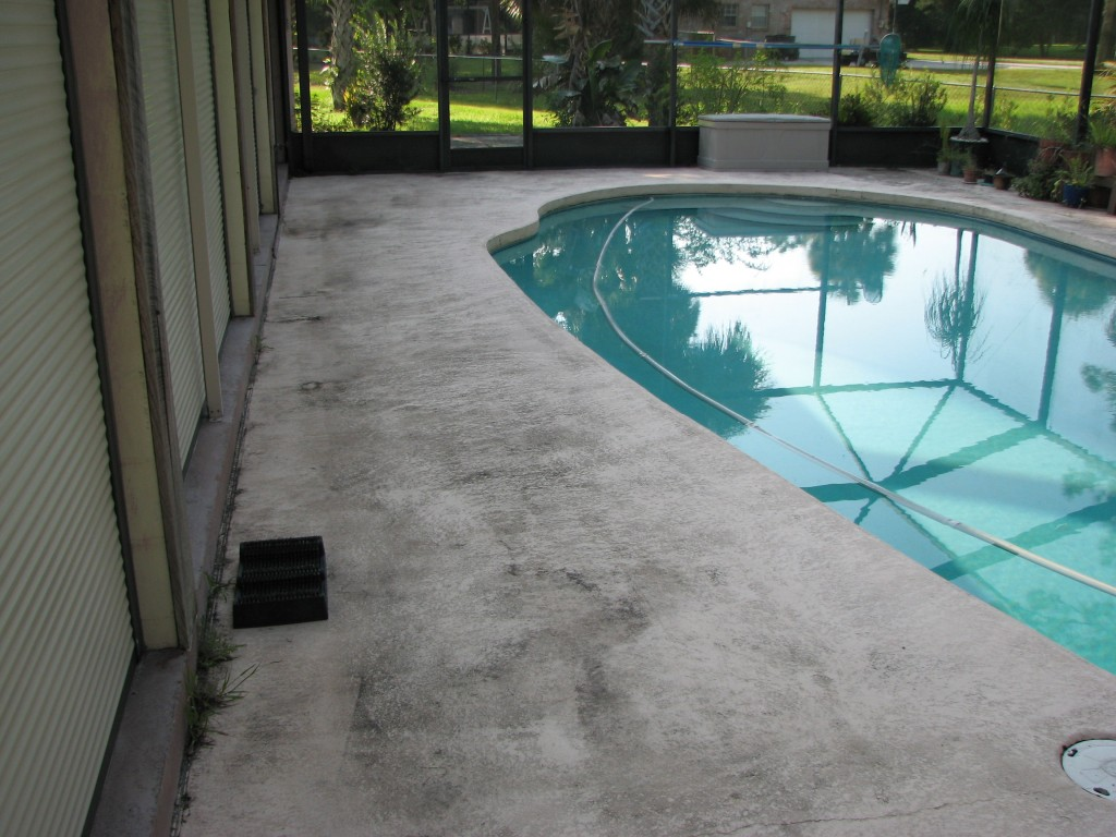 Cocoa Pooldeck Painting Before Photo