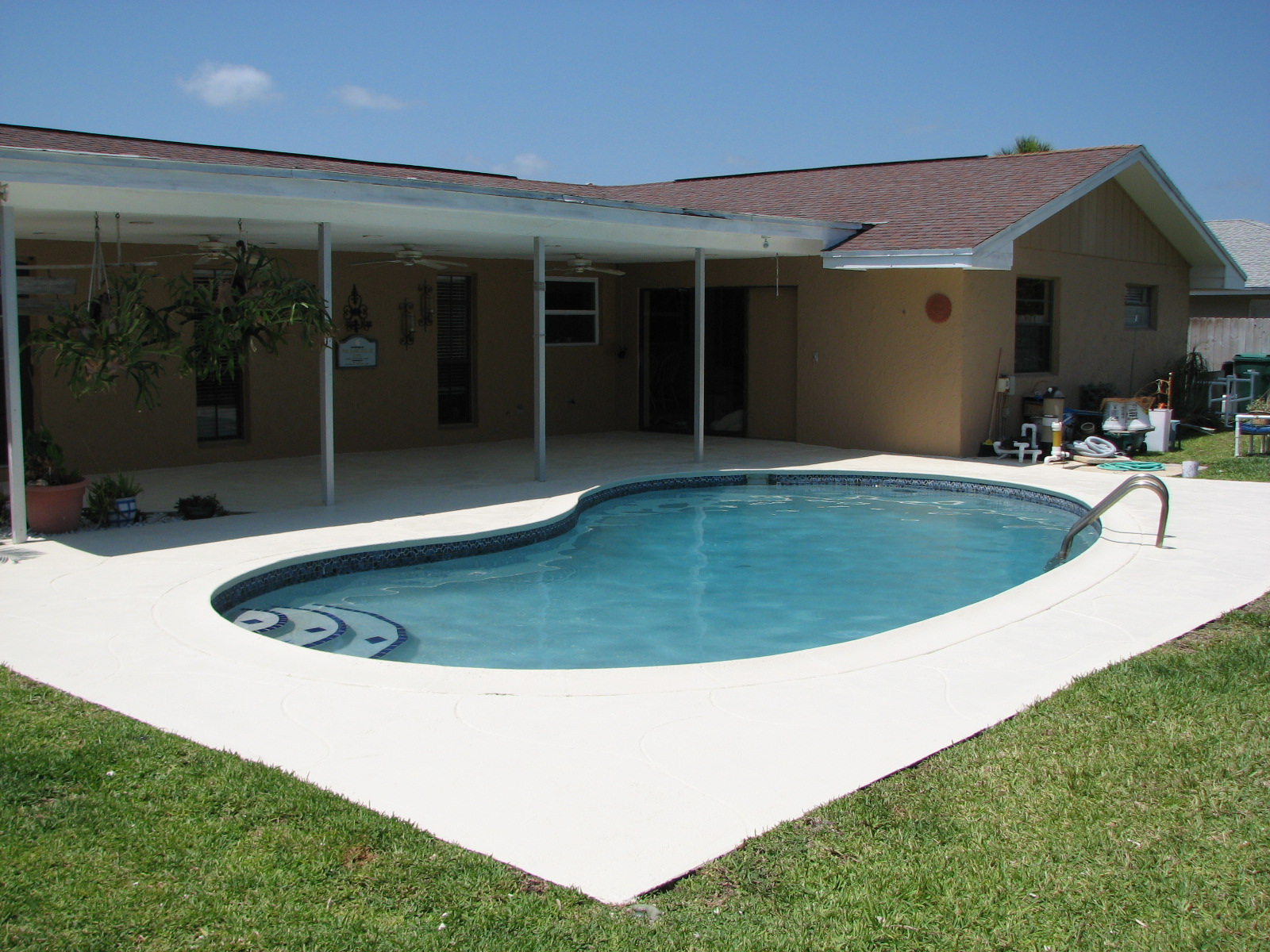 Indialantic Pool Deck Repair And Painting After Photo