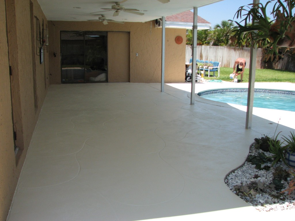 Pool deck repair and pool deck painting in indialantic fl for Lanai deck