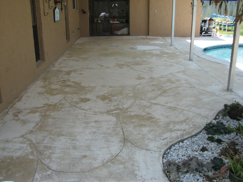 Indialantic Pool lanai Repair and Painting- Before photo: