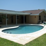 Viera Pool Deck Repair and Painting- Before photo