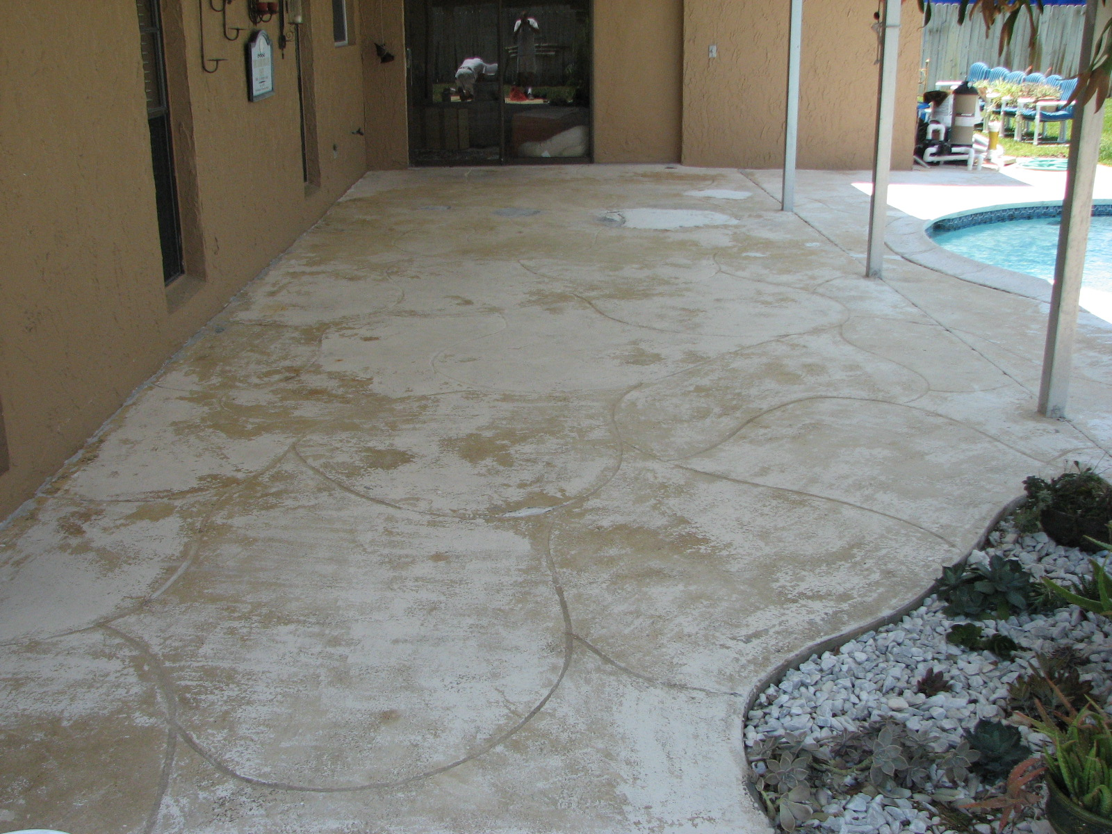 Concrete Pool Deck Finishes Pool Deck Repair  Melbournefl  Pool Deck Cracks  Pooldeck Painting
