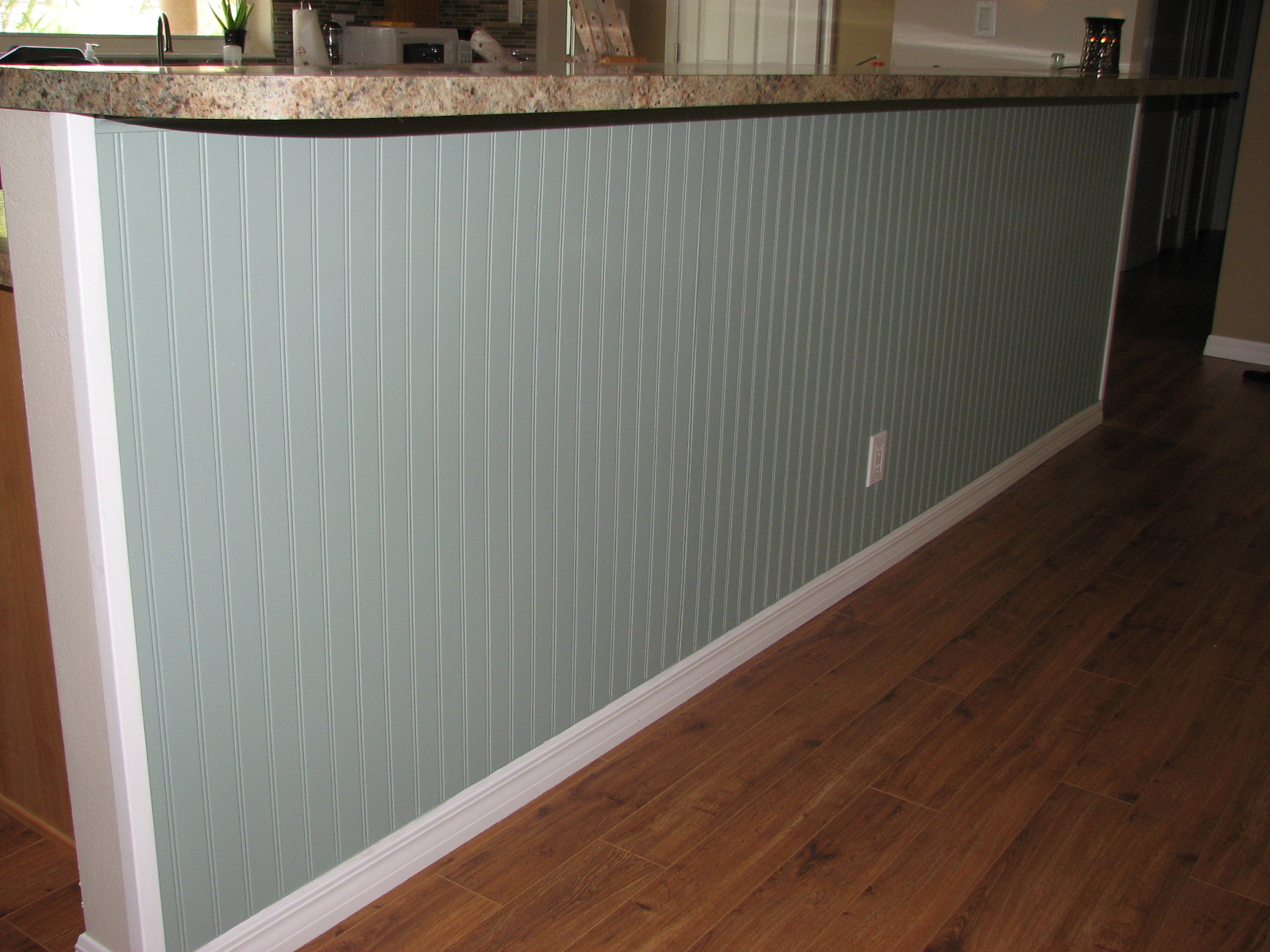 After Photo: Wainscoting - Beadboard Installation- Interior Painting- Cocoa Beach Fl