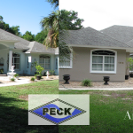 Before and After Exterior House Painting Photo