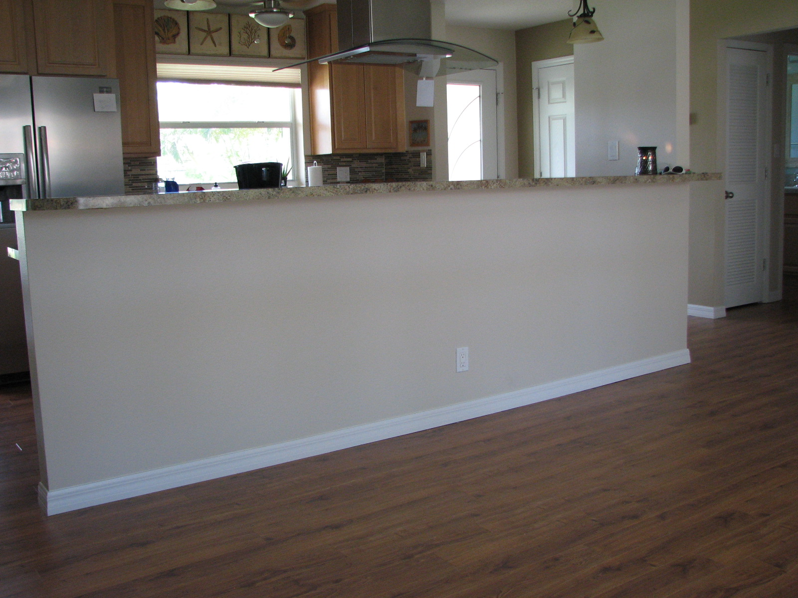 Before Photo: Wainscoting - Beadboard Install- Interior Painting- Cocoa Beach Fl