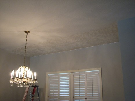 Indialantic Water Damage Ceiling Repair- Skip Trowel Textured