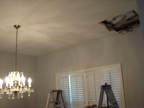 Indialantic-Water Damage-Skip-Trowel-Ceiling-Repair-1