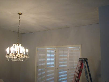 Indialantic- Water Damage Skip Trowel Ceiling Repair- Skim Coated