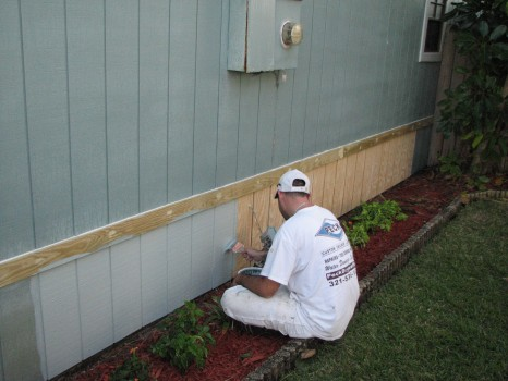 Merritt Island - Wood Siding Repair - Exterior Painting