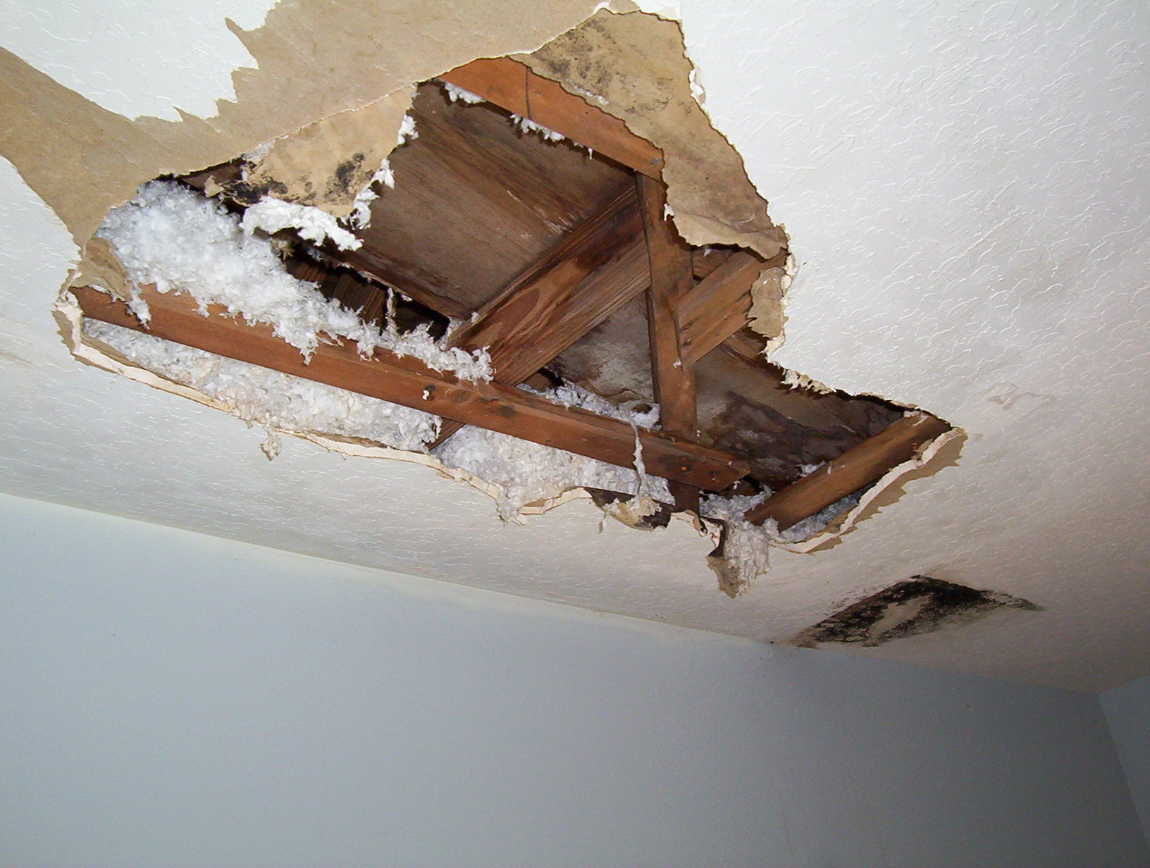 Water Damaged Skip Trowel Ceiling Merritt Island