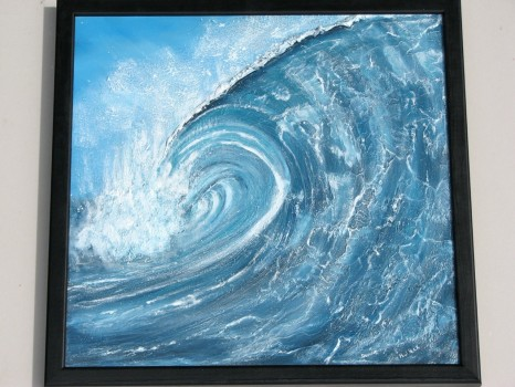"""Cloudbreak""- Textured Surf Art Painting"