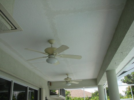 Pool Patio Ceiling Repair - Knockdown Texture - Merritt Island