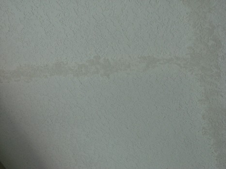 Pool Patio Ceiling Repaired - Knockdown Texture Matched - Merritt-Island