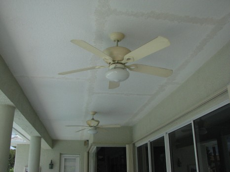 Pool Patio - Ceiling Repaired - Knockdown Texture - Merritt Island