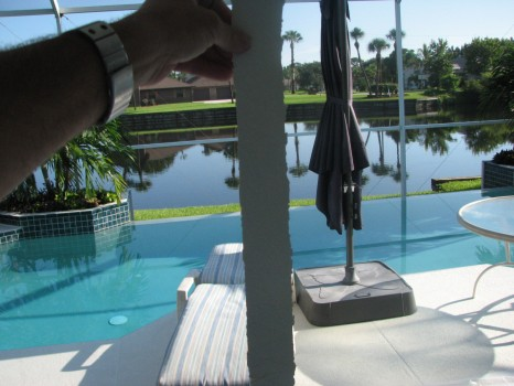 Pool Patio Ceiling - Tape Removed - Merritt-Island