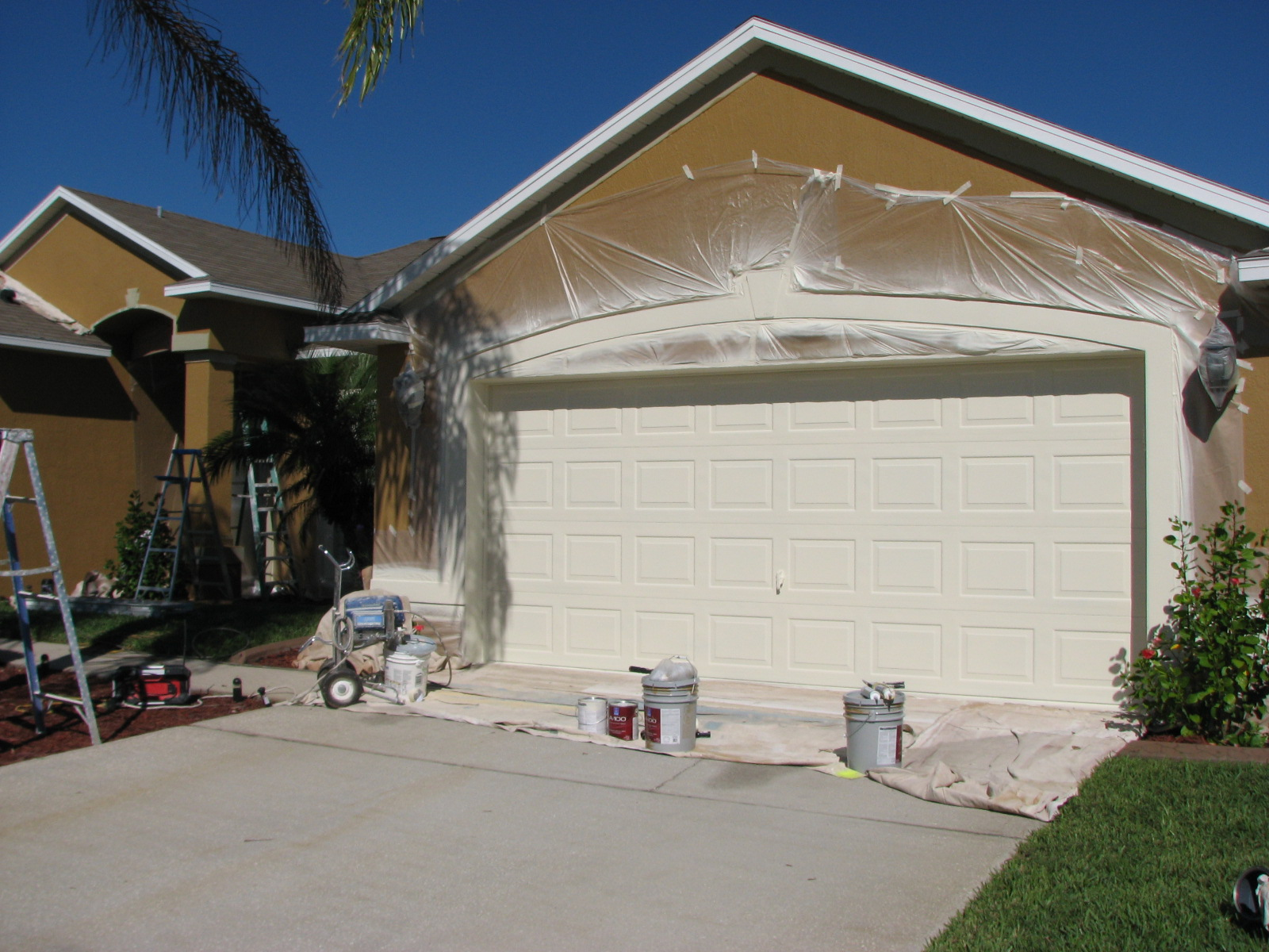Project blog drywall painting repair melbourne beach fl melbourne garage door spray painted solutioingenieria Gallery