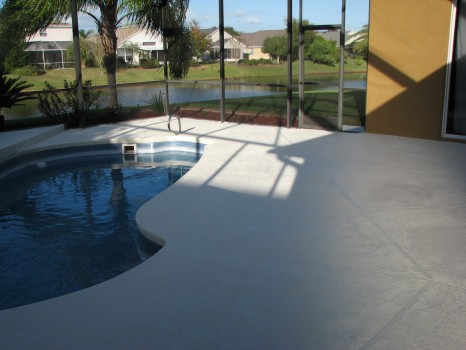 Pool Deck and Lanai- First coated