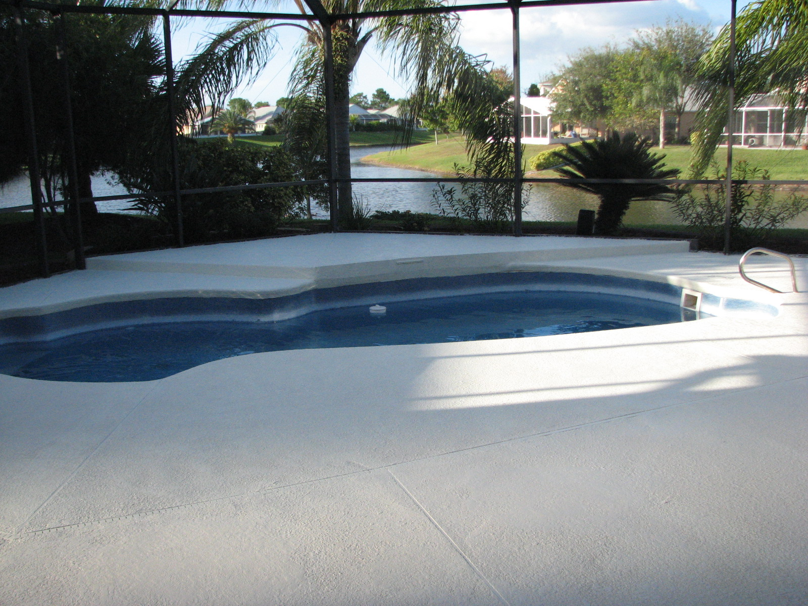 Melbourne suntree pool deck painting after photo for Pool show melbourne