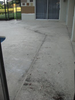 Pool Deck and Lanai -Before