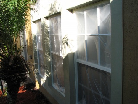Melbourne Window Stucco Band Painting-Before