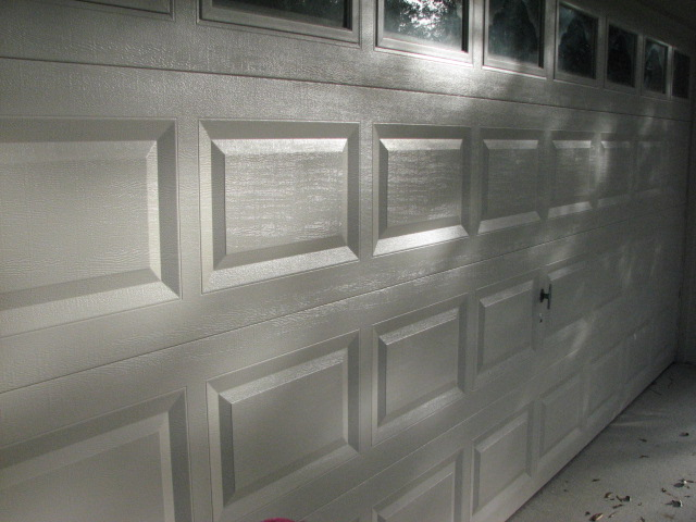 Garage Door Painted-Two Coats