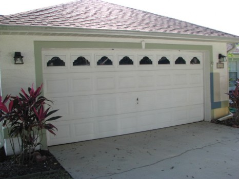 Garage Door Painting- Before Photo