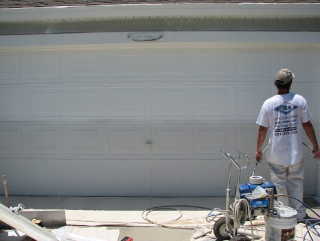 Garage Door Painting-Before and After-Viera FL