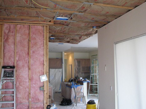 Melbourne Beach oceanfront home Water Damaged from upstairs water heater