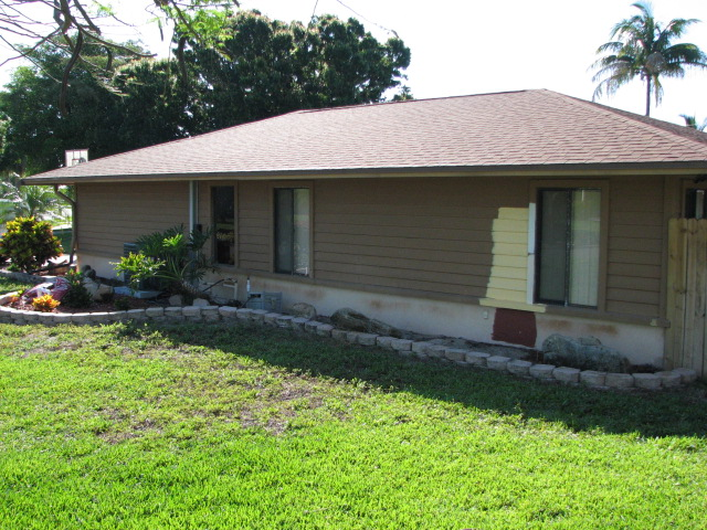 Indialantic fl cedar siding and stucco exterior painting project for Exterior wood siding painting preparation