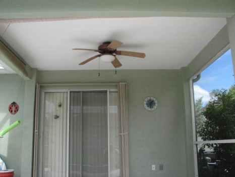 Completed ceiling renovation