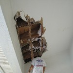 Roof leak caused major water damage to this ceiling in Suntree, Fl