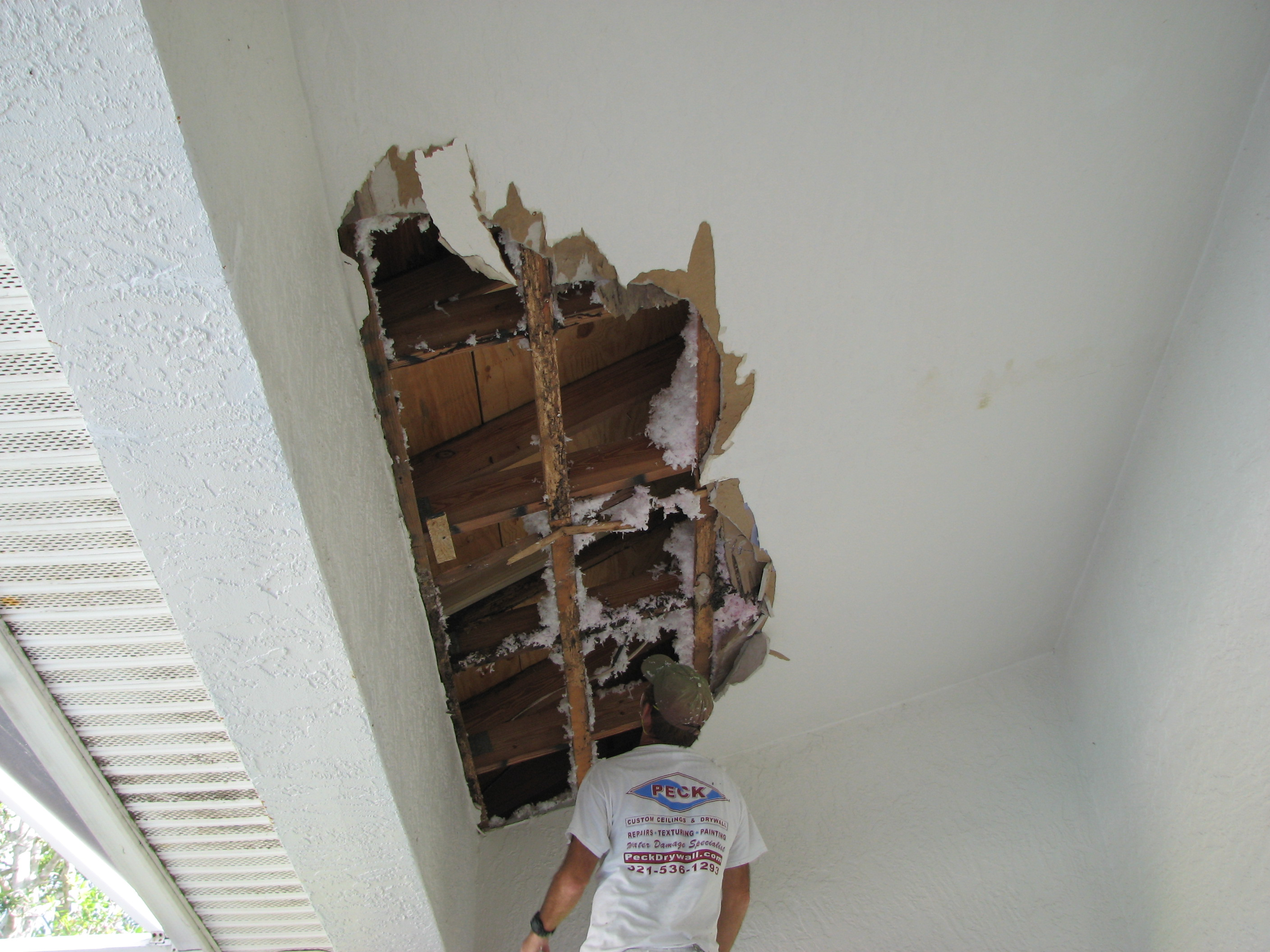 Roof Leak Caused Major Water Damage To This Ceiling In Suntree