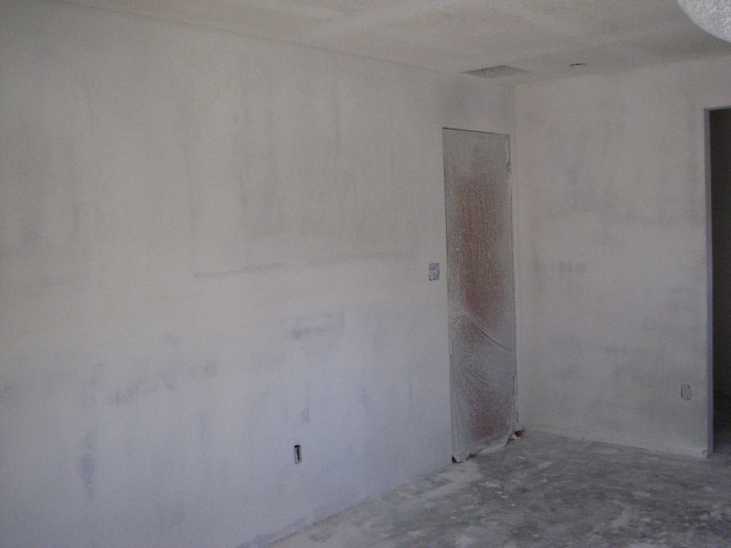 master bedroom remodel- soundproofing- orange peel texture-1