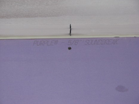 Soundproofing with purple soundbreak 5/8""