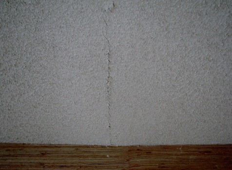 Cocoa Beach popcorn ceiling texture crack- Before photo