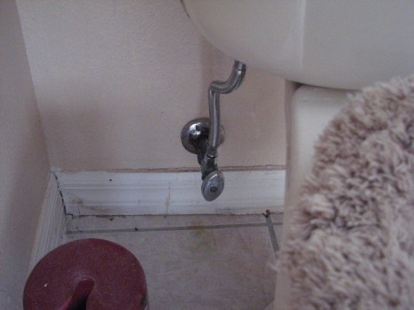 Chinese drywall- Toilet supply line corrosion