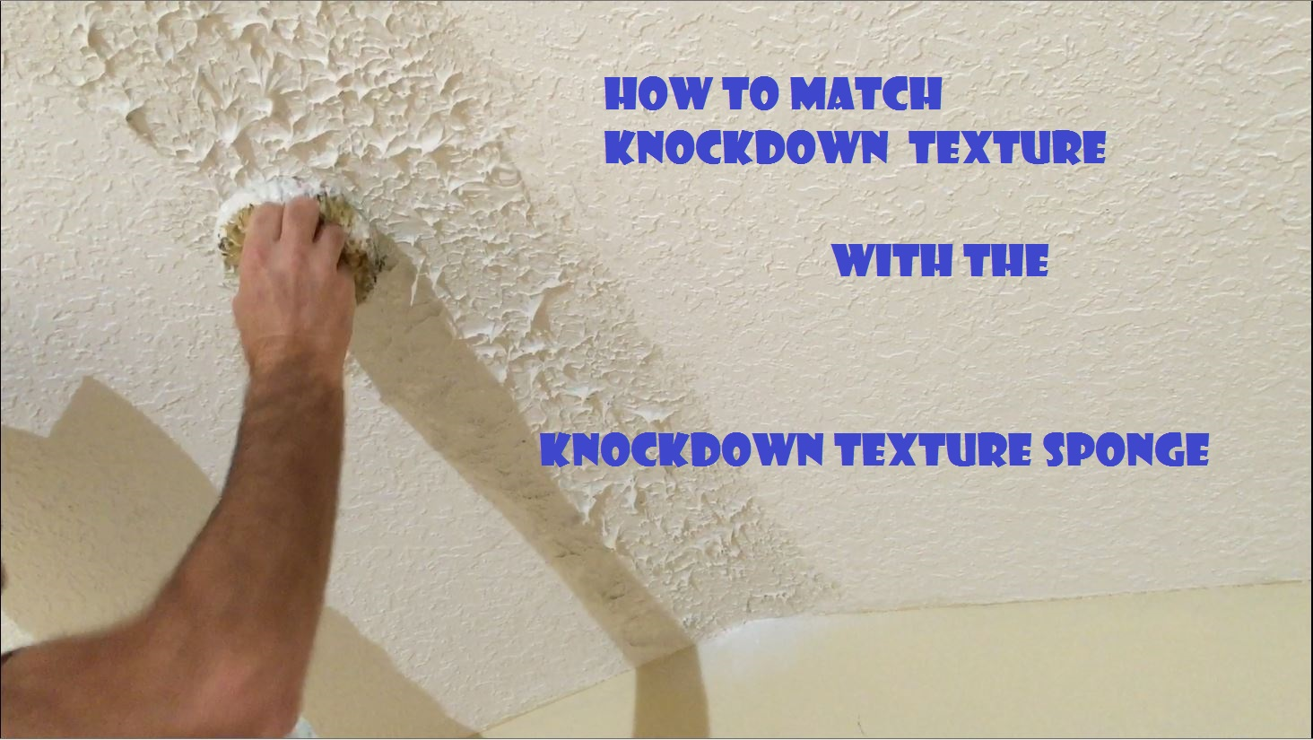Knockdown Texture Sponge Drywall Repair Tool