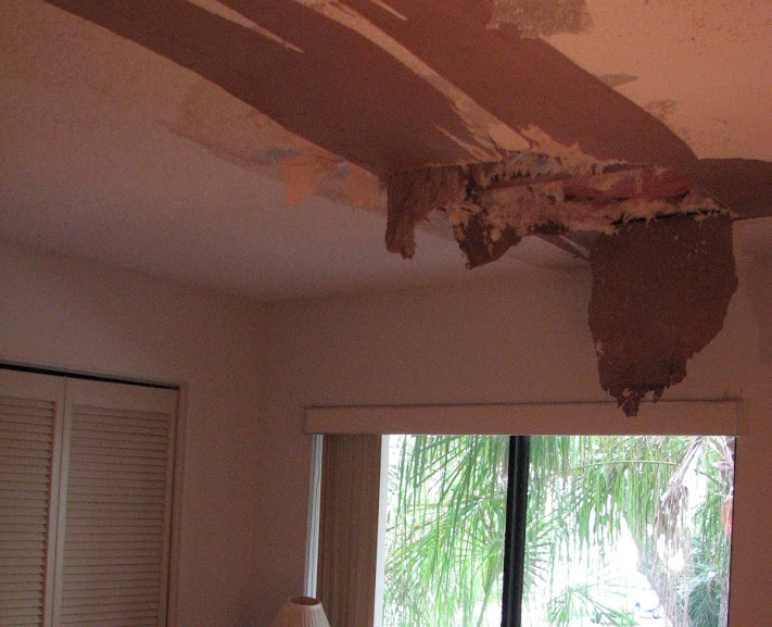 Cape Canaveral FL Water Damaged Popcorn Ceiling