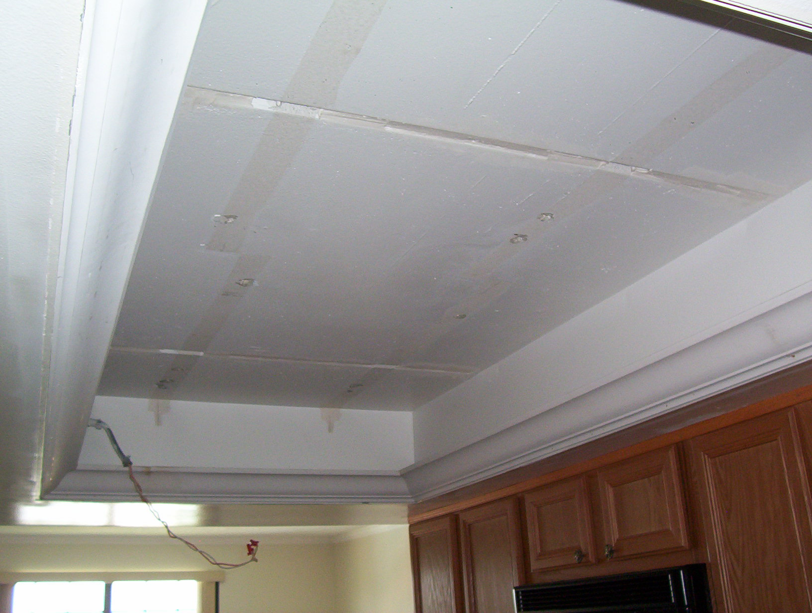 Kitchen Ceiling Light Removed