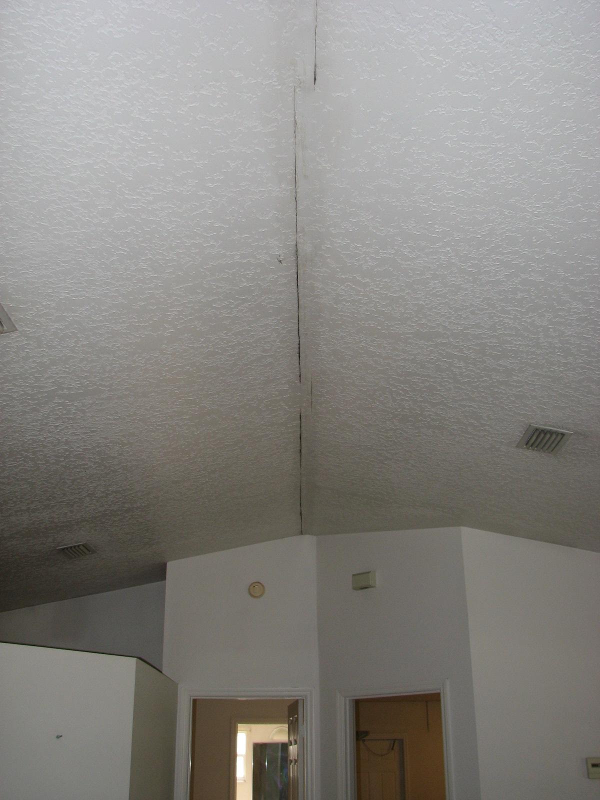 Vaulted Ceiling Repair Knockdown