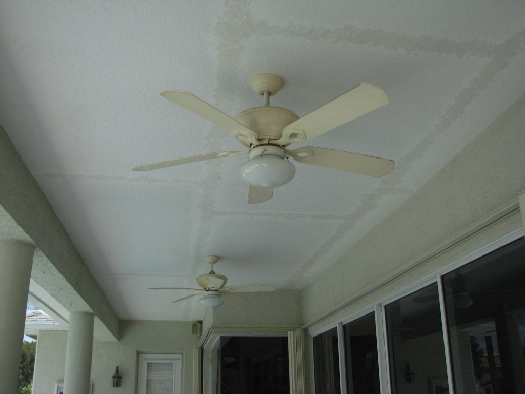 Ceiling Repaired Knockdown Texture Blended