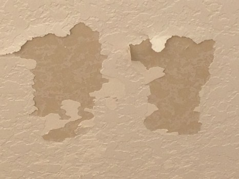 Knockdown Textured Ceiling Bubbling While Painting Lanai In Rockledge Fl