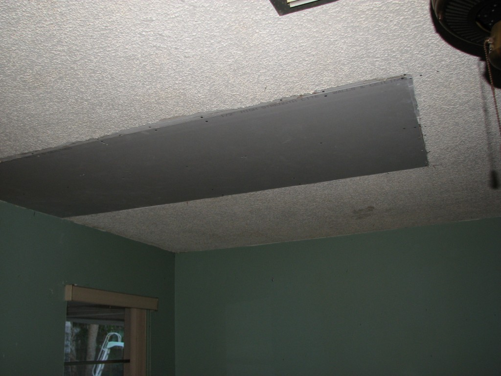 Melbourne Beach water damaged drywall and popcorn ceiling
